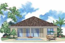 House Plan Design - Mediterranean Exterior - Rear Elevation Plan #930-381