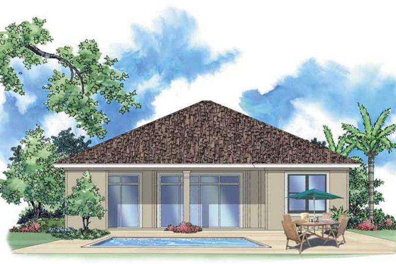 Mediterranean Exterior - Rear Elevation Plan #930-381 - Houseplans.com