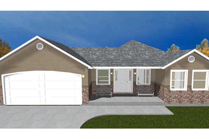 Ranch Exterior - Front Elevation Plan #1060-22 - Houseplans.com