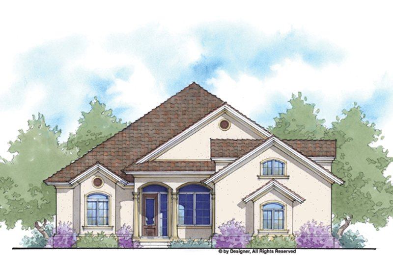 Mediterranean Exterior - Front Elevation Plan #938-78