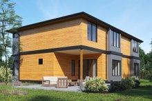 Architectural House Design - Contemporary Exterior - Rear Elevation Plan #1066-49