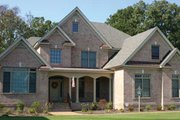 European Style House Plan - 4 Beds 3.5 Baths 3434 Sq/Ft Plan #927-102 Exterior - Front Elevation