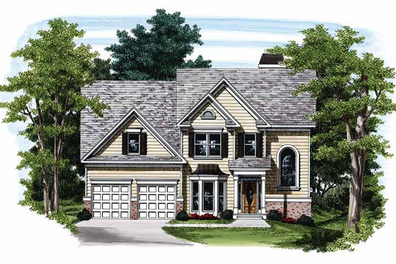 Colonial Exterior - Front Elevation Plan #927-91