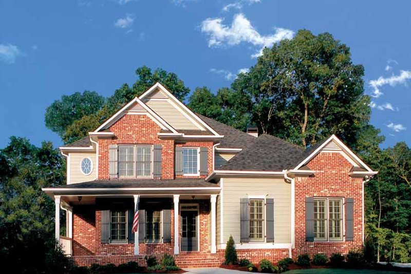 House Design - Colonial Exterior - Front Elevation Plan #927-872