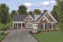 Traditional Exterior - Front Elevation Plan #56-691