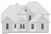 Country Style House Plan - 4 Beds 3.5 Baths 2867 Sq/Ft Plan #437-80 Exterior - Front Elevation
