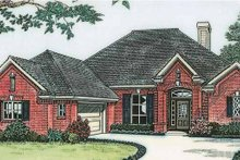 European Exterior - Front Elevation Plan #310-1137