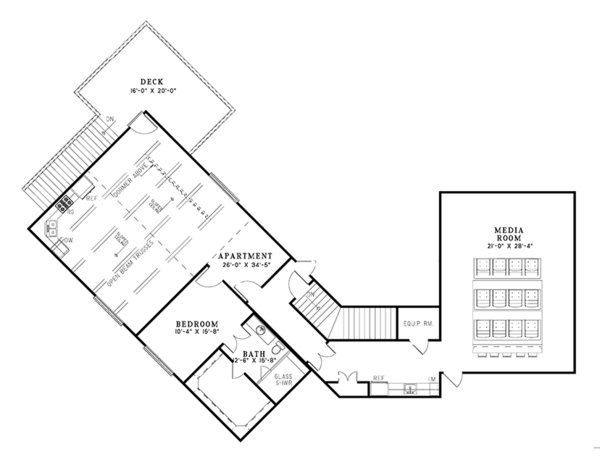 European Floor Plan - Upper Floor Plan Plan #17-3347