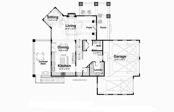 House Plan Design - Country Floor Plan - Main Floor Plan #928-250