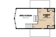 Contemporary Style House Plan - 1 Beds 1 Baths 844 Sq/Ft Plan #923-5 Floor Plan - Upper Floor Plan