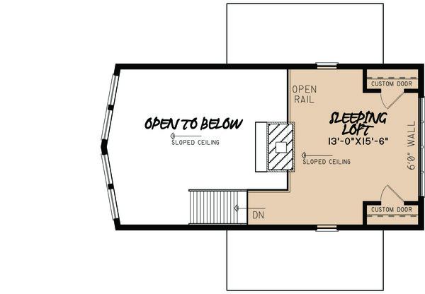 Contemporary Floor Plan - Upper Floor Plan Plan #923-5