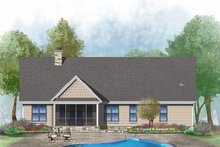 Ranch Exterior - Rear Elevation Plan #929-1002