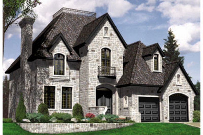 European Style House Plan - 3 Beds 2.5 Baths 2190 Sq/Ft Plan #138-252 Exterior - Front Elevation