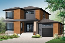 Home Plan - Contemporary Exterior - Front Elevation Plan #23-2585