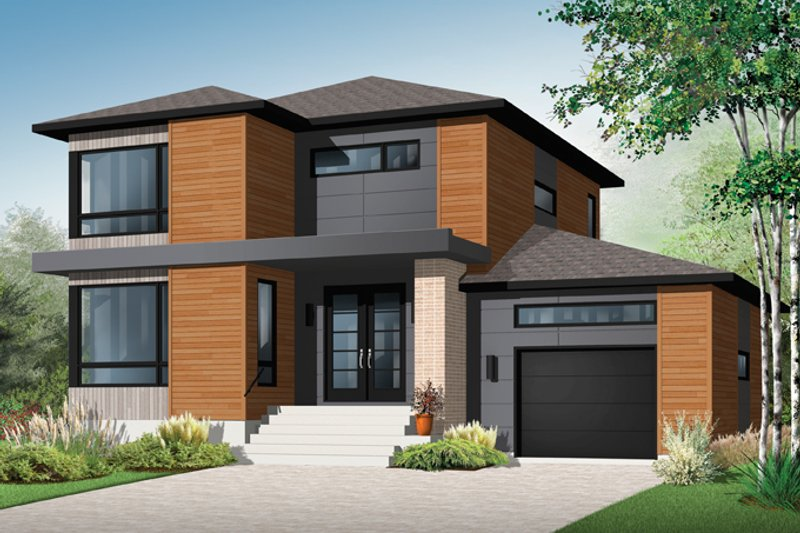 Contemporary Exterior - Front Elevation Plan #23-2585