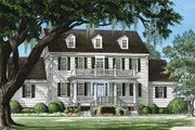 Farmhouse Style House Plan - 4 Beds 3.5 Baths 3471 Sq/Ft Plan #137-166 Exterior - Front Elevation