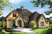 European Style House Plan - 3 Beds 3 Baths 1715 Sq/Ft Plan #929-957 Exterior - Front Elevation