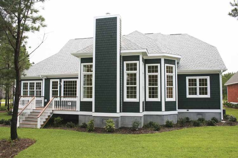 Country Exterior - Rear Elevation Plan #927-129 - Houseplans.com
