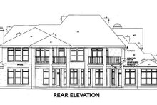 Dream House Plan - European Exterior - Rear Elevation Plan #410-261