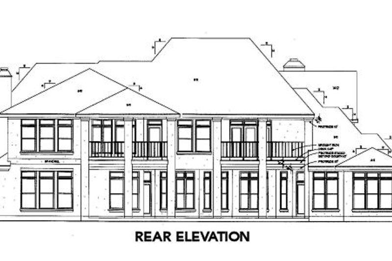 European Exterior - Rear Elevation Plan #410-261 - Houseplans.com