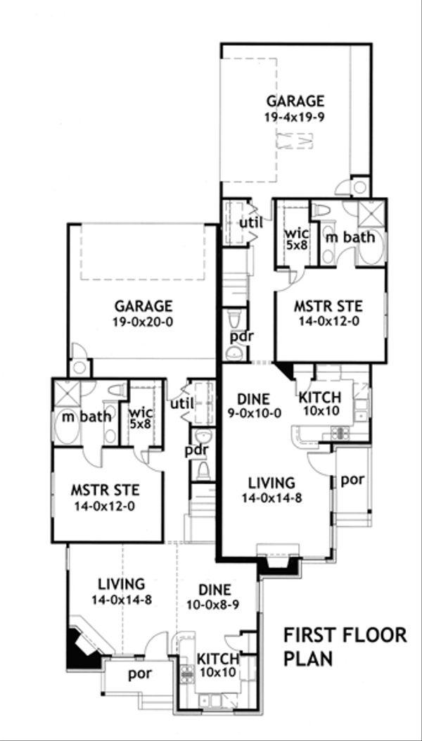 Craftsman Floor Plan - Main Floor Plan Plan #120-170