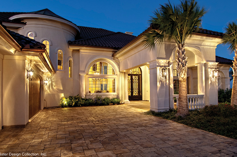 Mediterranean Exterior - Front Elevation Plan #930-442 - Houseplans.com