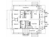 Log Style House Plan - 3 Beds 2 Baths 2296 Sq/Ft Plan #451-13 Floor Plan - Main Floor Plan