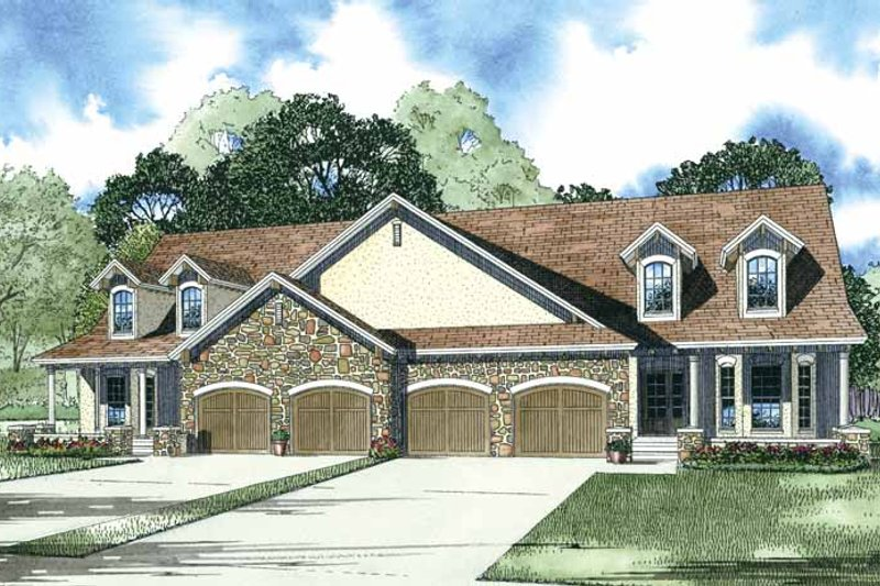 Country Exterior - Front Elevation Plan #17-3291