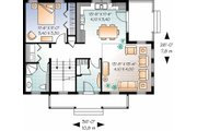 Country Style House Plan - 3 Beds 2 Baths 1508 Sq/Ft Plan #23-2471 Floor Plan - Main Floor