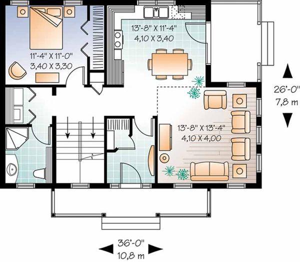 Country Floor Plan - Main Floor Plan Plan #23-2471
