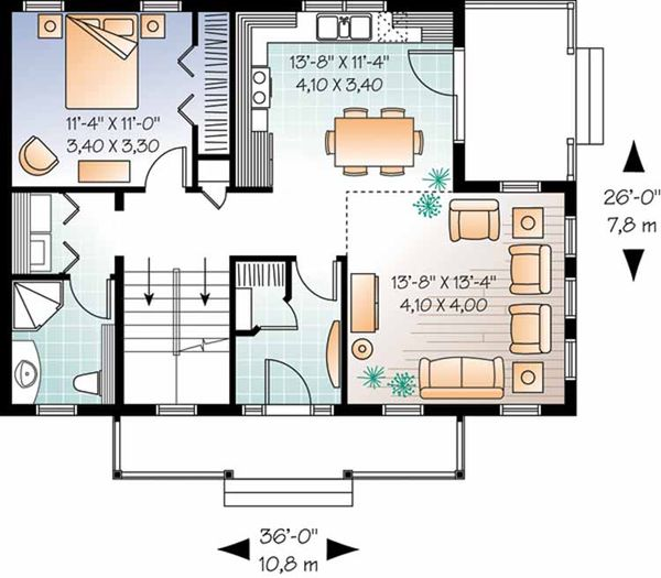 Country Floor Plan - Main Floor Plan Plan #23-2471