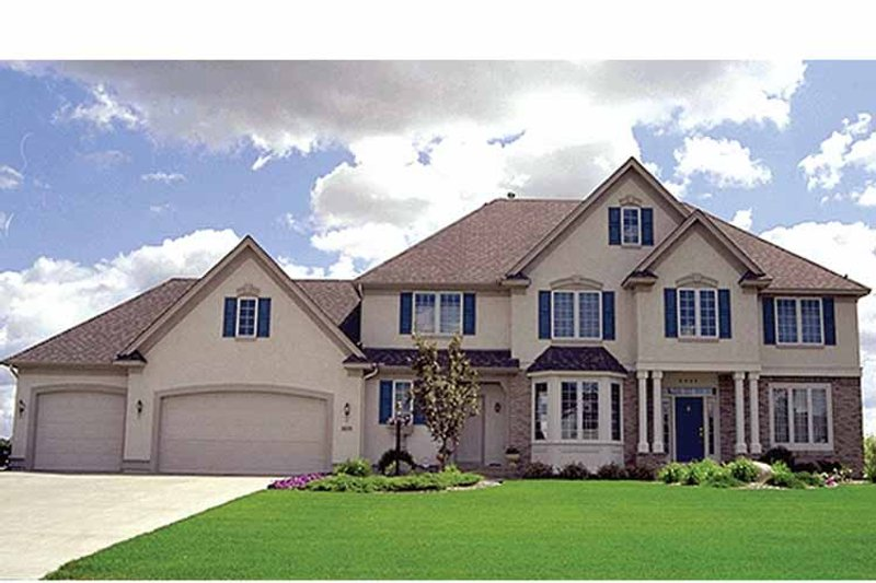 Traditional Exterior - Front Elevation Plan #51-958 - Houseplans.com