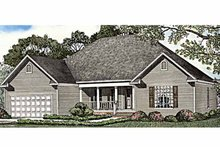 Country Exterior - Front Elevation Plan #17-3255