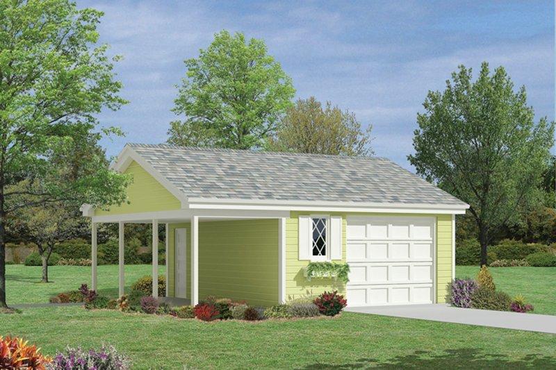 Exterior - Front Elevation Plan #57-629 - Houseplans.com