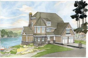 Craftsman Exterior - Front Elevation Plan #928-34