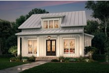 Dream House Plan - Farmhouse Exterior - Front Elevation Plan #430-227