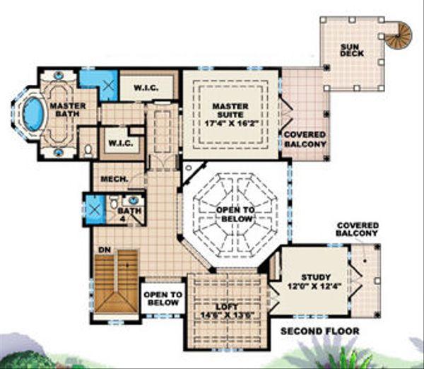 Traditional Floor Plan - Upper Floor Plan Plan #27-409