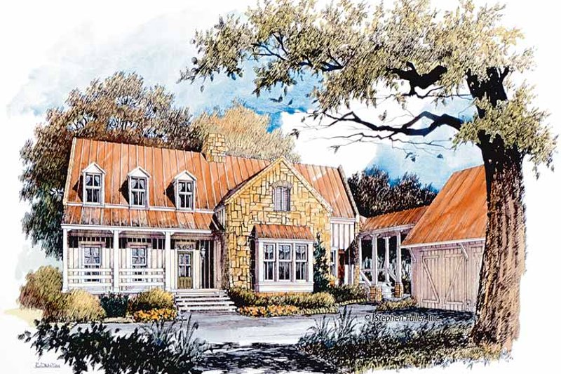 Country Exterior - Front Elevation Plan #429-365