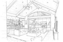 Craftsman Interior - Family Room Plan #509-432