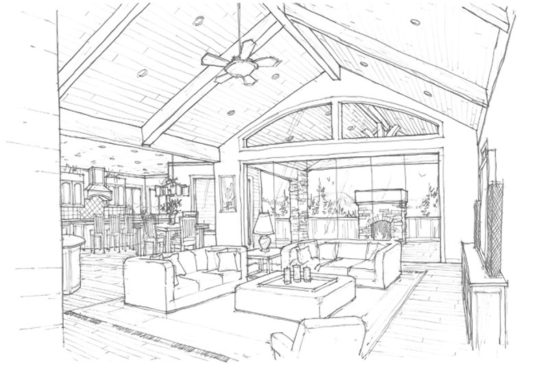 Craftsman Interior - Family Room Plan #509-432 - Houseplans.com