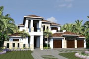 Mediterranean Style House Plan - 4 Beds 5.5 Baths 4167 Sq/Ft Plan #548-16