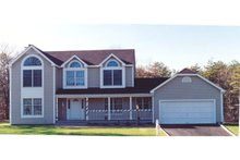 Country Exterior - Front Elevation Plan #3-171