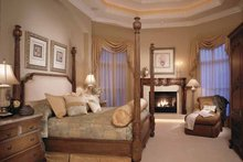 Mediterranean Interior - Master Bedroom Plan #417-557
