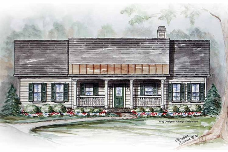 Country Exterior - Front Elevation Plan #54-309 - Houseplans.com