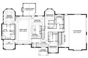 Craftsman Style House Plan - 3 Beds 3 Baths 3554 Sq/Ft Plan #1057-1 Floor Plan - Main Floor Plan