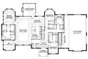 Craftsman Style House Plan - 3 Beds 3 Baths 3554 Sq/Ft Plan #1057-1 Floor Plan - Main Floor