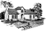 European Style House Plan - 3 Beds 2.5 Baths 2555 Sq/Ft Plan #322-117 Exterior - Front Elevation