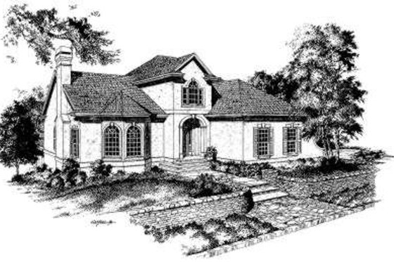 European Exterior - Front Elevation Plan #322-117