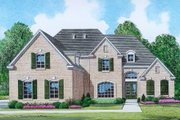 Traditional Style House Plan - 4 Beds 3.5 Baths 3235 Sq/Ft Plan #424-361 Exterior - Front Elevation