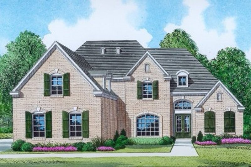 Traditional Style House Plan - 4 Beds 3.5 Baths 3235 Sq/Ft Plan #424-361